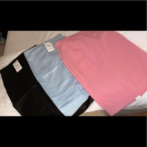 Lot of 3 Zara midi skirts sz XS